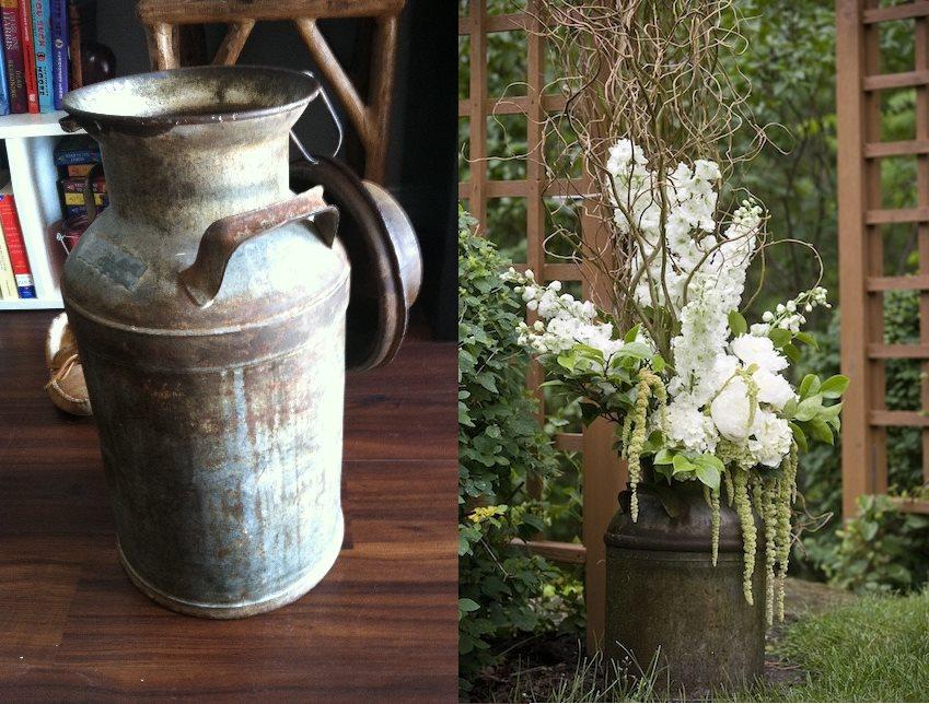 Wedding ideas habitat home blog for Old milk can decorating ideas
