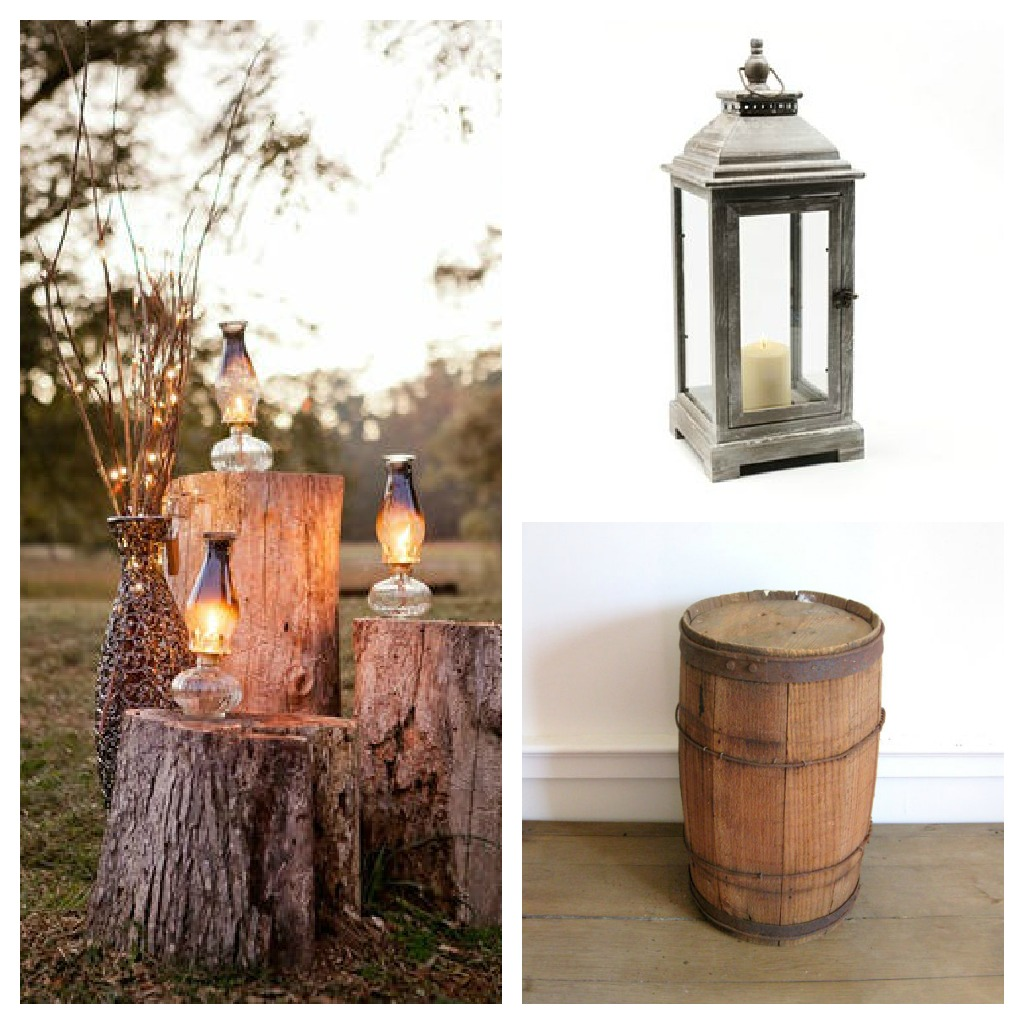 Rustic decor re purposed antique nail barrel habitat for Antique home decorations