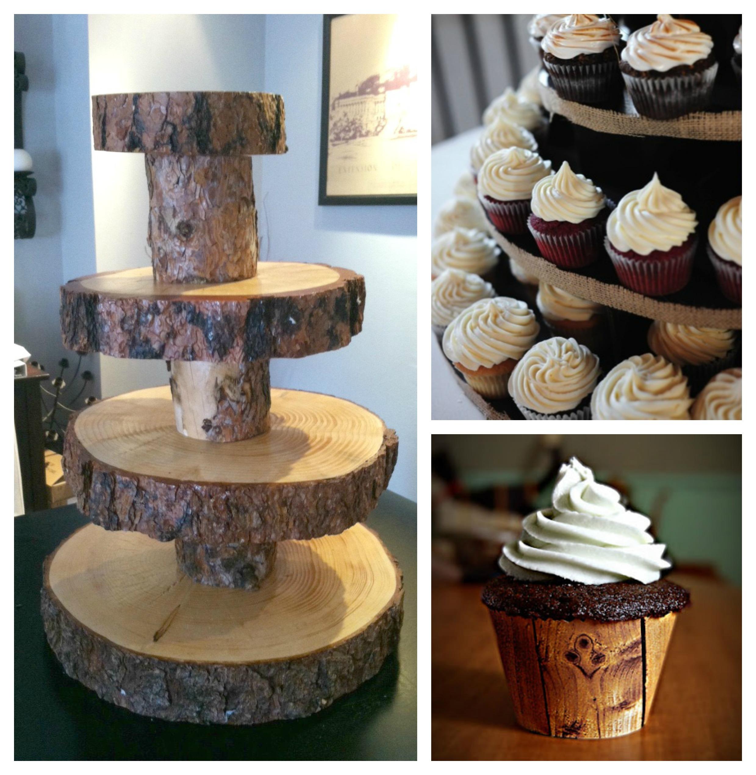 Rustic Wedding Cupcake Ideas: Rustic Cupcake Stand